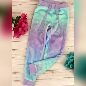 Justice Tie Dye Velour Sweatpants